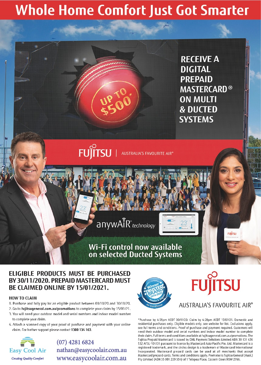 Receive a digital prepaid Mastercard when you purchase a multi or ducted system.