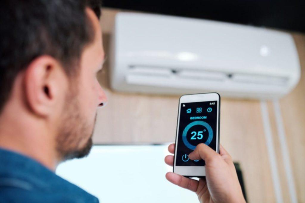 AC control using a smartphone