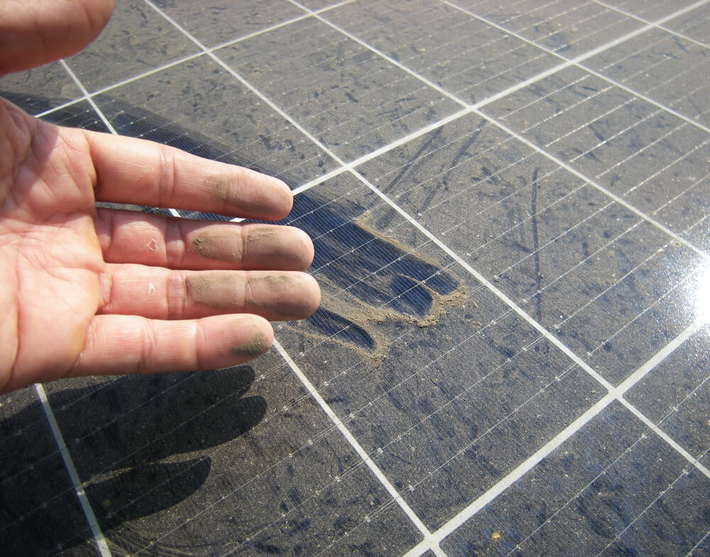 dusty solar panels